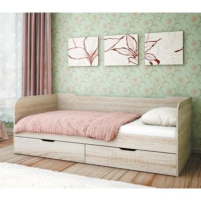 Кровать с 2-я ящиками