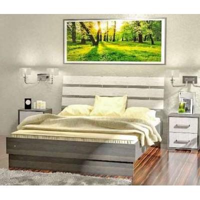 Кровать Вернисаж с рейками